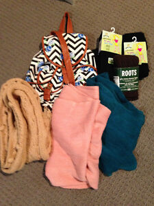 BRAND NEW Tights. Scarfs and Bag