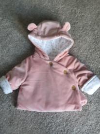 Newborn baby girls coat / jacket.