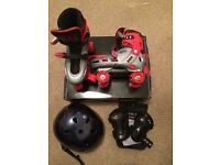 Skates and helmet excellent condition