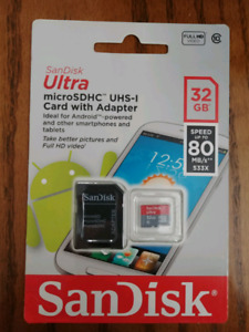 SanDisk Ultra micro SD card with adapter