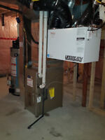 Heating and cooling  water heater and GAS SERVICE 24 HRS EMERGEN