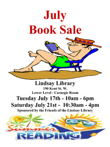 Lindsay Library Book Sale - Saturday July 21