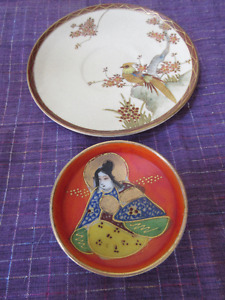 2 Japanese porcelain pieces - very pretty Satsuma