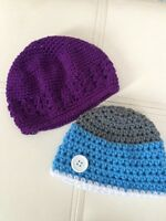 Brand new crocheted purple hat