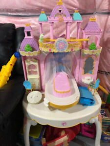 kids kitchen and princess castle and toys