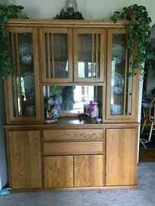 Solid 2pc China Hutch