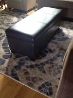 Leather ottoman/bench with storage