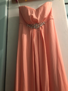 New, with tags peach prom dress! Size 8
