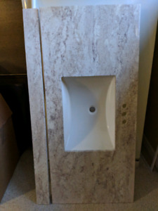 Cultured Stone Vanity Top with Sink