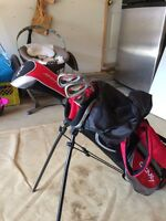 Jr golf clubs with bag