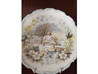 Royal Albert Four Seasons collectible plates