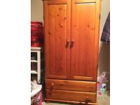 Brown Closet and Drawer Desk