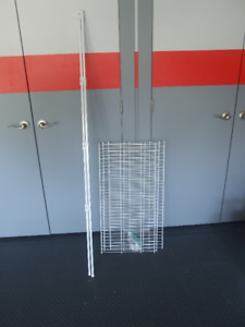 Plastic coated wire shelving closet tower