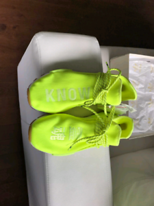 Adidas x Pharrell Williams Hu NMD Solar Yellow Sneakers **New