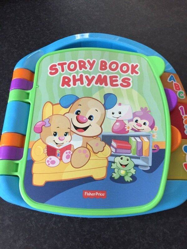 Set of 2 toys Fisher Price baby light up book / torch