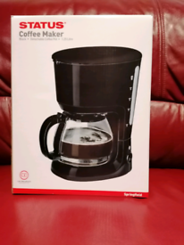 Coffee Maker In Stylish Black NEW