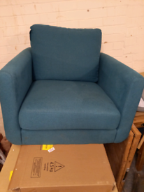 Teal Arm Chair Sofa only £35. RBW Clearance Outlet Leicester City Cent