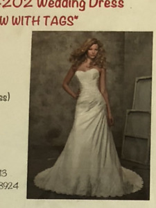 NEW wedding dress with tags