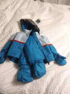 New tags on, 12 month winter coat, pants, booties and mitts