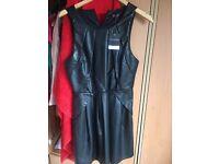 Top shop leather dress size 12
