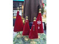 Hand made designer velvet Christmas trees