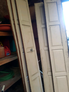 Solid wood garage door 9x7