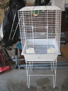 White Birdcage with Stand For Sale