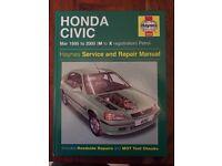 Haynes Manual: Honda Civic 1995-2000