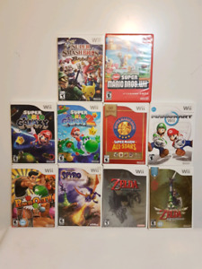 Assorted Nintendo Wii Games - individually priced.