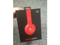 Genuine Beats solo 2 red headphone with box