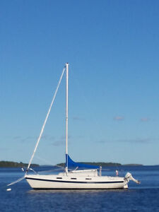 Fine example of a well cared for sail boat