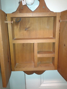 Small wooden cabinet at Second Stage