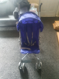 Boys blue stroller