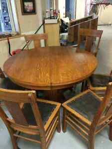 Solid oak antique table