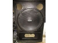 "Large 18"" kam bass sub bass speaker and cabinet"