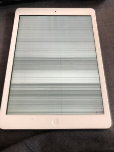 iPad Air 16GB white (Broken LCD + Digitizer; sold as is)