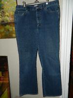 "Calvin Klein Womens Blue Jeans Size 14 Cotton Blend Inseam 30"""