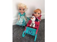Frozen snow glow elsa and Anna on sleigh