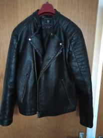 Mens Leather look Jacket