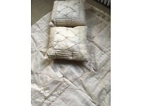 Laura Ashley Kayleigh Throw and two matching cushions in Champagne