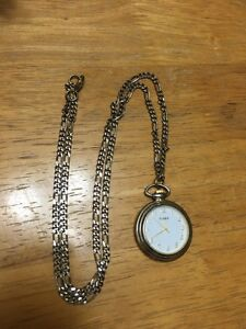Old timex pocket watch with chain