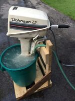 MINT CONDITION JOHNSON 7.5 HP OUTBOARD MOTOR