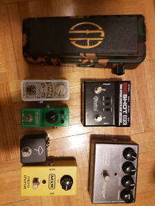 Pedals Dunlop, MXR, T.C electronic, Radial Engineering, Ibanez