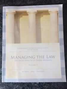 Managing the Law Volume 2 Business Law 402
