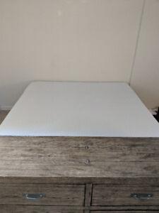 King size Endy mattress plus high metal frame - Canadian made!