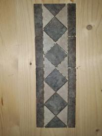 Porcelain border tiles floor or wall