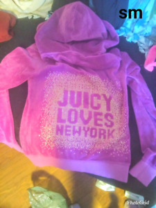 2 juicy Couture velour tracksuits size sm each $60