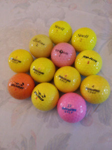 1 dozen mixed colored golf balls for sale