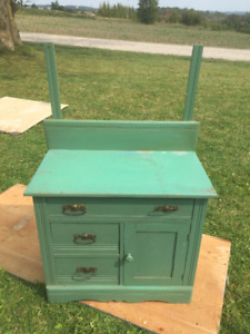 Antique Wash Stand in Green