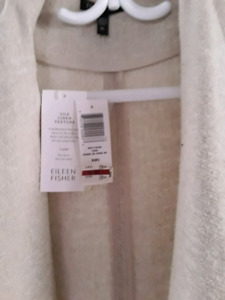 New with tags Eileen Fisher  silk linen jacket size xl   $50.00
